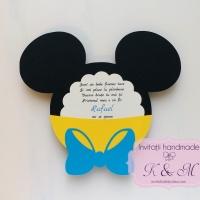 Invitatii de botez Mickey Mouse cod 220