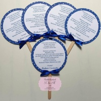Invitatii de botez in forma de acadea cod 283