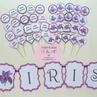 Mesaje/props si ghirlanda candy bar cu iris cod 295