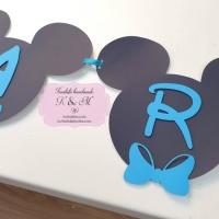 Ghirlanda de botez pentru candy bar Mickey Mouse