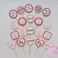 Mesaje/propsuri candy bar cu balon cu aer cald roz