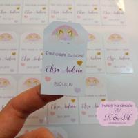 Etichete autocolante pentru botez cu unicorni