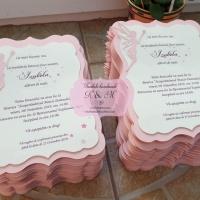 Invitatie de botez cu zana roz cod 224