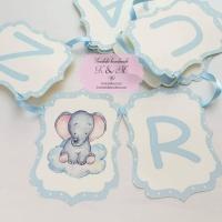 Ghirlanda candy bar de botez cu elefant