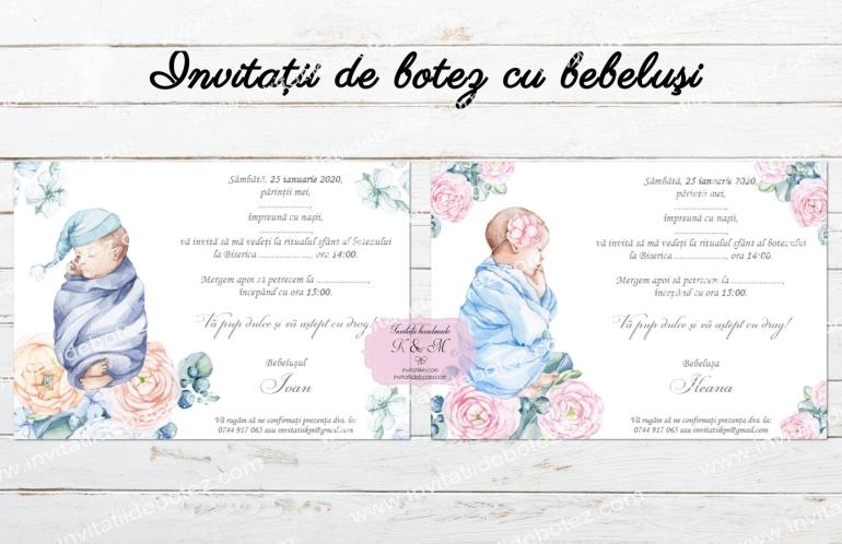 Invitatii bebelusi