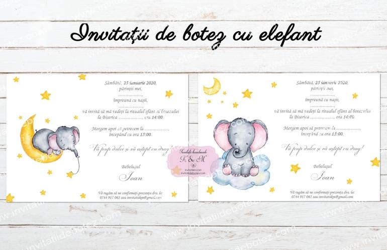 Invitatii elefant baieti