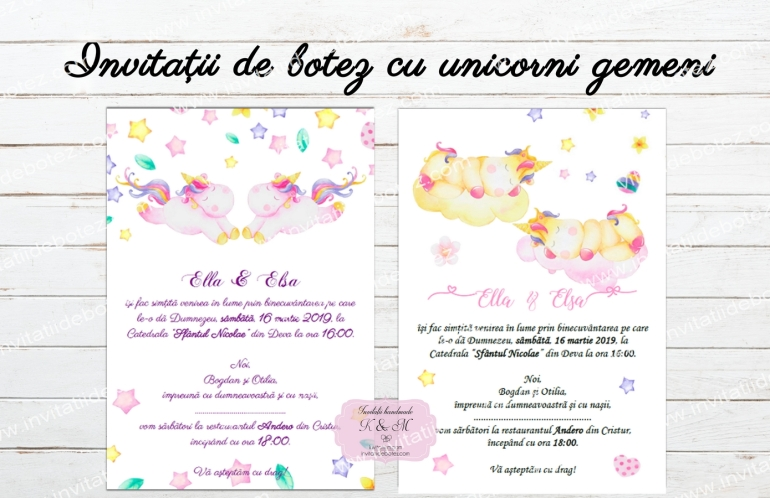 Invitatii unicorni gemeni2