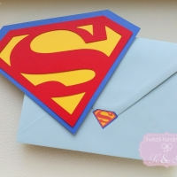 Invitatii de botez Superman cod 282