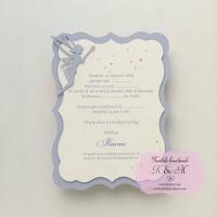 Invitatie de botez cu zana lila cod 224