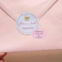 Etichete adezive/stickere – botez tematic fetita