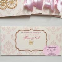 Plicuri de bani de botez cu damask roz cod 235