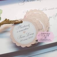 Etichete roz pentru marturii de botez